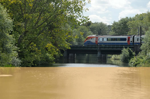 train over water bridge