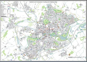 Bedford Walking and Cycling map